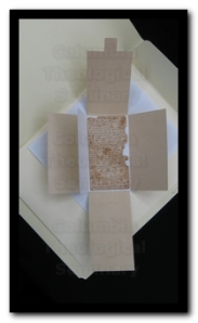 Four-flap lined with permalife paper created to house personal papers at the C. Benton Kline, Jr. Special Collections and Archives, John Bulow Campbell Library, Columbia Theological Seminary.